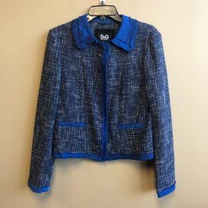Dolce & Gabbana silk hem tweed blazer sz 42 US10